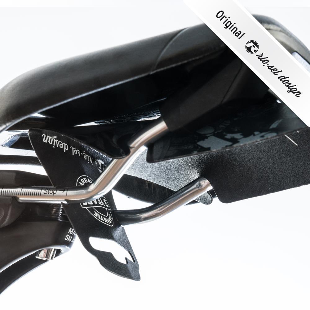 - Zadnji blatnik Riesel Design Ritze Stickerbomb Ultra Black - OPTIBIKE