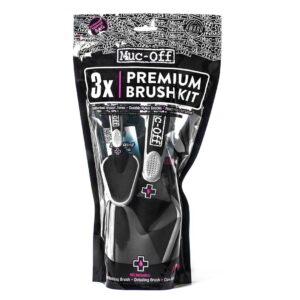Muc-off Premium Brush Kit, 3 delni komplet krtač za čiščenje kolesa