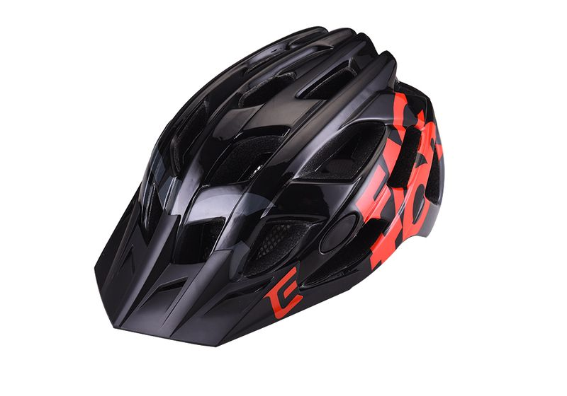 - Enduro MTB čelada Extend Factor (svetleča črna - oranžna) - OPTIBIKE