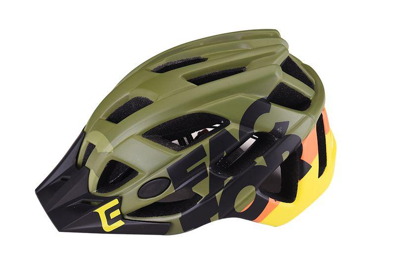 - Enduro MTB čelada Extend Factor (črna - olivno zelena) - OPTIBIKE