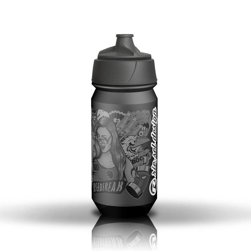 - Bidon Riesel Design Bottle 500ML Stickerbomb Ultra Black - OPTIBIKE