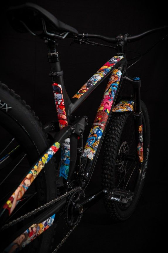 - Riesel Design zaščita verige Chaintape 3000 Stickerbomb - OPTIBIKE