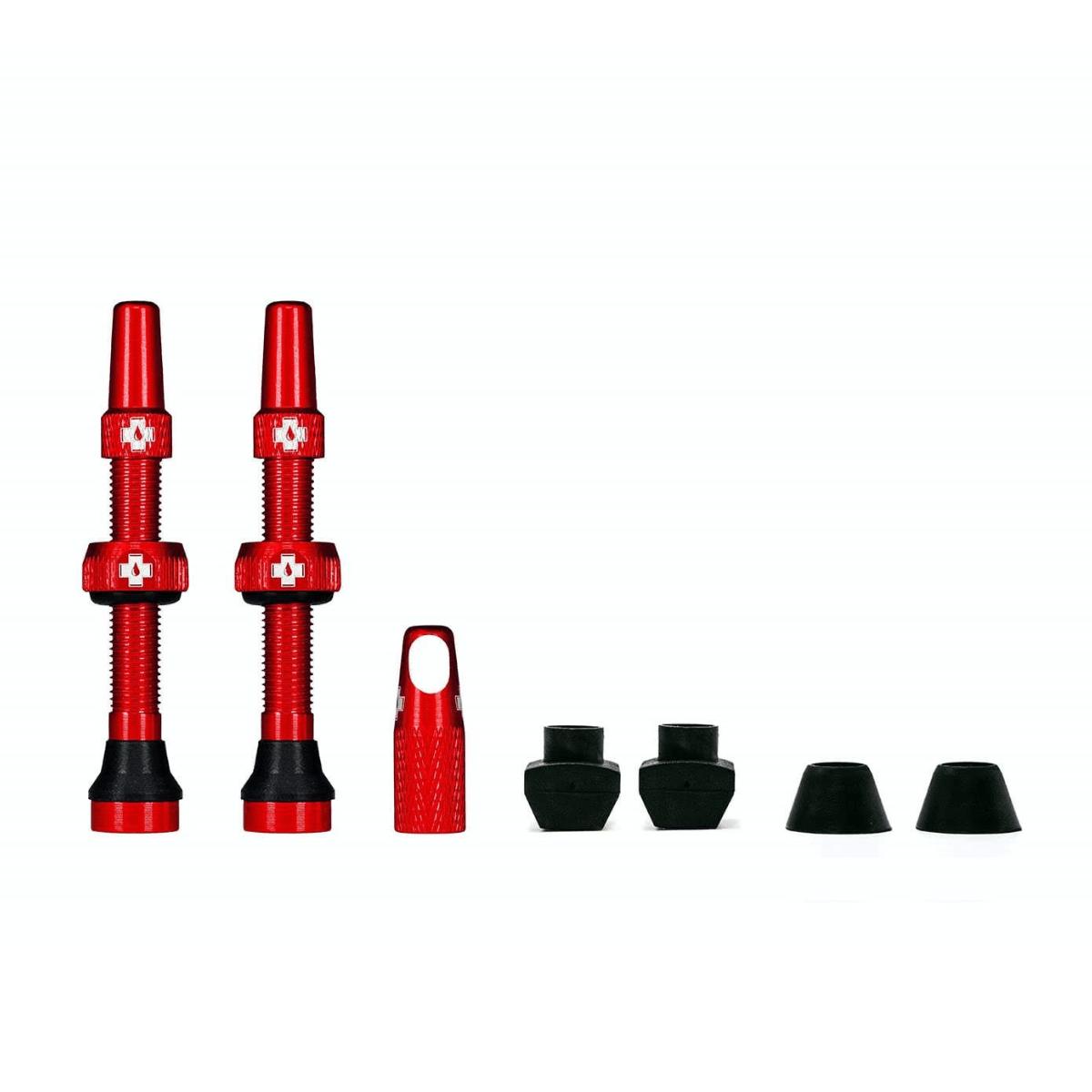 - MUC-OFF komplet tubeless presta ventilov 44MM - rdeča - OPTIBIKE