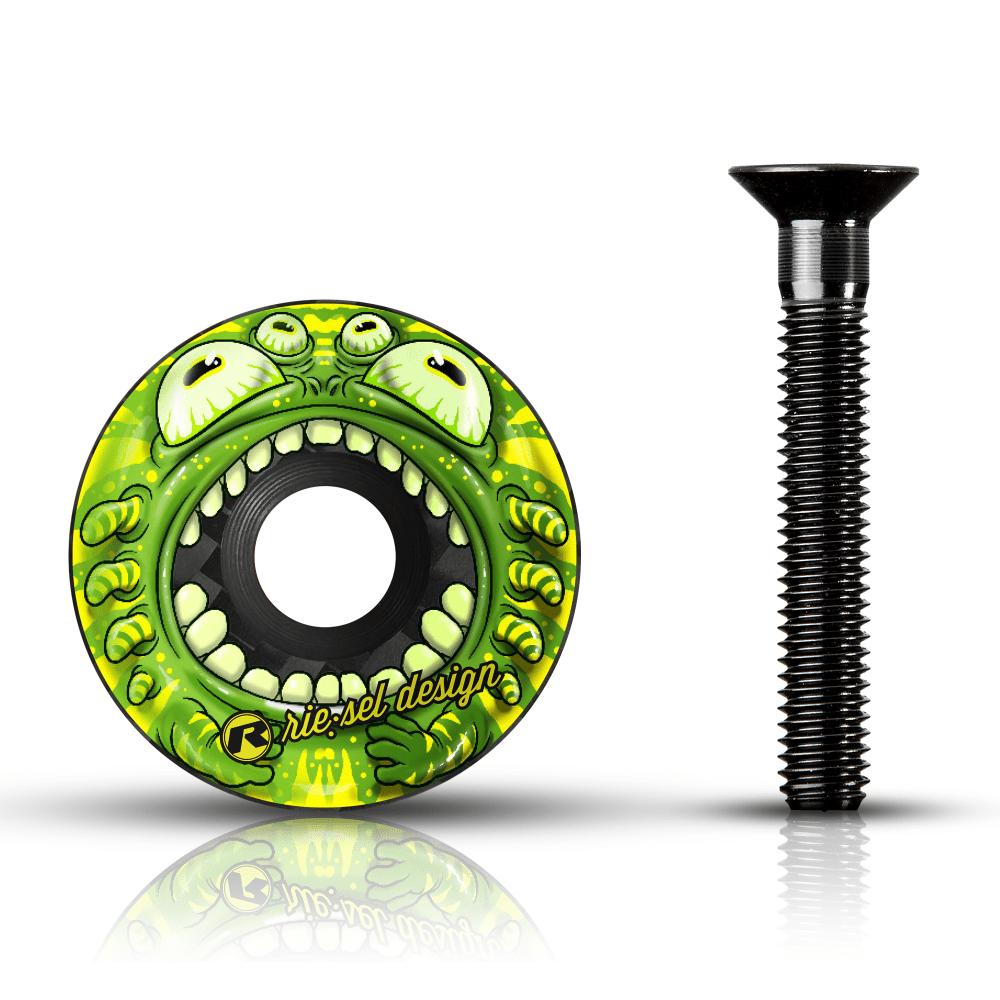 - Karbonski pokrovček krmilnega ležaja Riesel Design Stemcap Monster II - OPTIBIKE