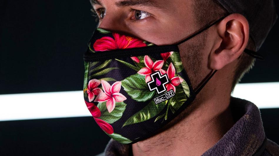 - MUC-OFF zaščitna maska za večkratno uporabo (aloha) - OPTIBIKE