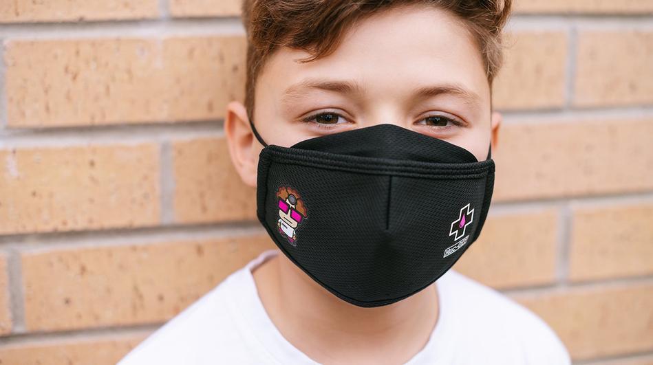 - Muc-Off OTROŠKA zaščitna maska za večkratno uporabo (črna) - OPTIBIKE